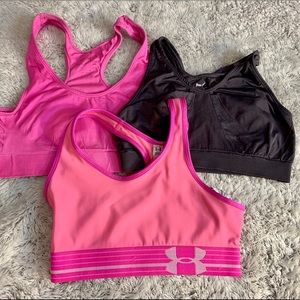 Bundle - 3 sports bras!! Pink and grey.
